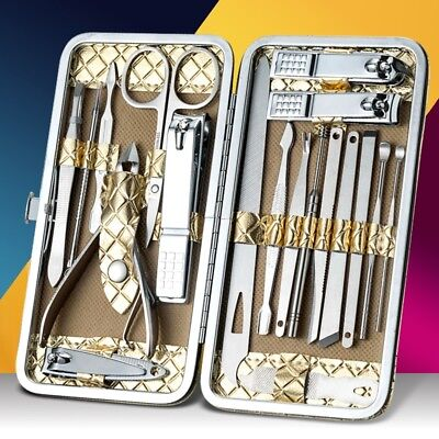 Mens Women Nail Clipper Set 12/18 Pedicure Manicure Nail Care Scissors Grooming