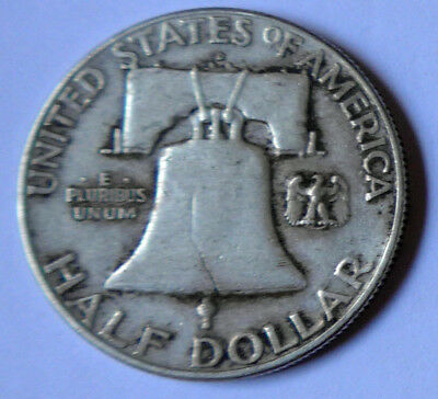 Usa 1961 Franklin Half Dollar  In Very Fine Condition - Denver Mint
