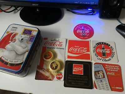 Coca Cola Collectors Tin And Other Items Bulk