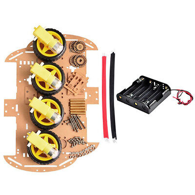 Chassis 4wd New Tracking Set Motor Chip Smart Car Diy Robot Ultrasonic Avoid