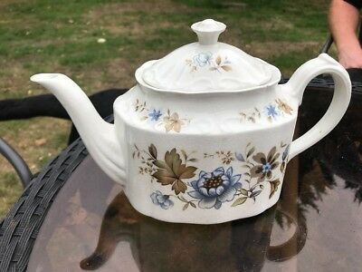 Ridgway Arlene Teapot Sold As Found In Old Used Condition With Damages
