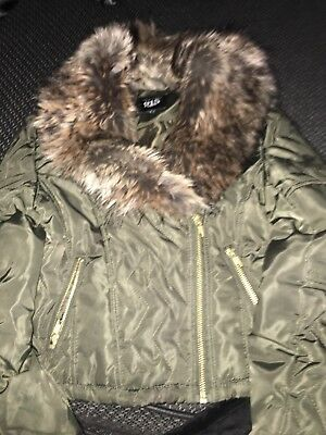 Girls Khaki Coat Newlook Age 9