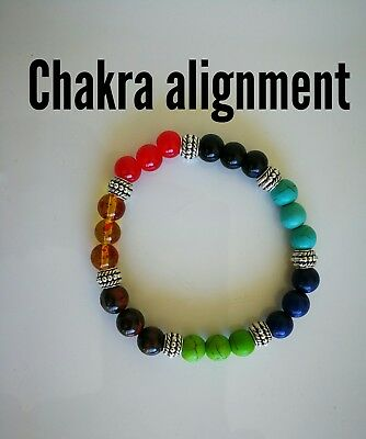 Code 450 Align your chakra infused bracelet unisex heal energy yoga mum mother's