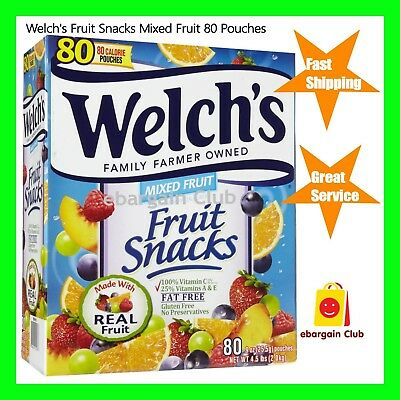 Welch's Fruit Snacks Mixed Fruit 60 Pouches 1.5kg eBargainClub