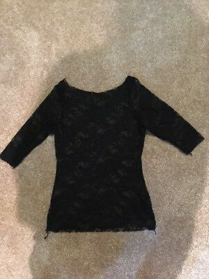 Large Child Black Lace Top Dance