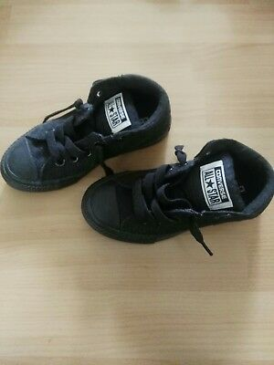 Converse All Star Sneakers, Size 11 US Junior, Black, New in Box