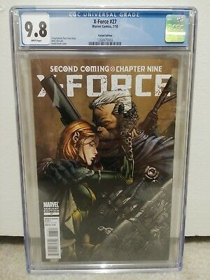 X-Force # 27 1:25 David Finch Variant Cable / Hope Summers Classic Cover CGC 9.8