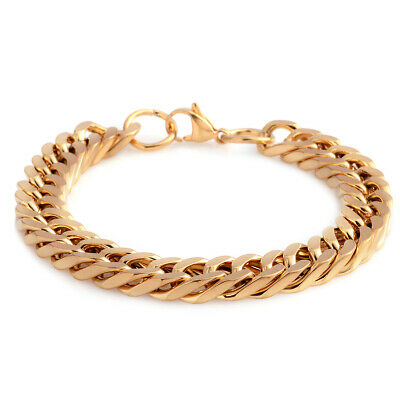 """New ION Plated Yellow Gold Steel Fashion Bracelet For Women 8"""""""