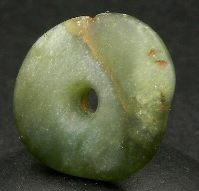 KYRA MINT - ANCIENT Serpentine BEAD - 20.7 mm LARGE - Saharian NEOLITHIC