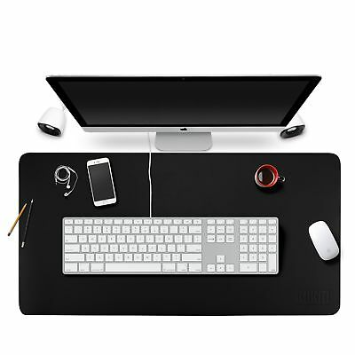 """BUBM Large Leather Desk Mat 35"""" x 18"""" Smooth Blotter Protector Extended Non-S..."""