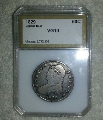 1829 Capped Bust Half 50c PCI