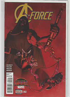 A Force Avengers #2 Marvel Now Comics (1st series 2015) Secret Wars Tie in NM+