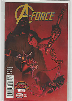 A Force Avengers #2 Marvel Now Comics (1st series 2015) Secret Wars Tie in VF/NM