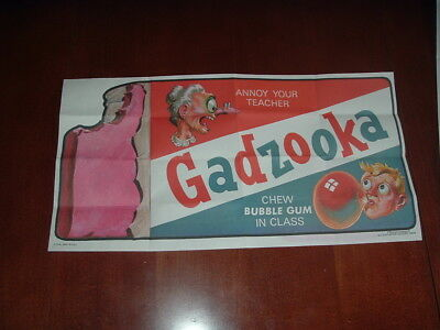 1973 1974 Topps Gum Co Wacky Packages Poster #8 Gadzooka Gum