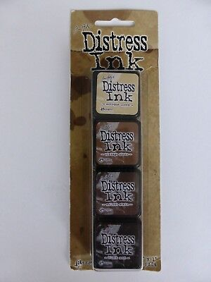 *NEW* (Ranger) TIM HOLTZ Distress Ink Pad MINI *KIT 3* (set of 4)