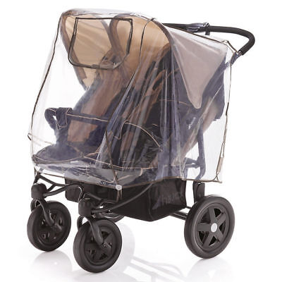 New Universal DIAGO Raincover fit Twin Stroller Double Pushchair PVA FREE NO PVC