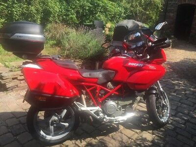 Ducati Multistrada 1000DS with panniers