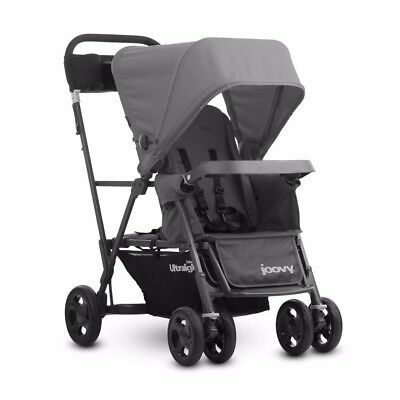 Joovy Caboose Ultralight CHARCOAL Double Stroller Sit Stand Tandem Opened Box