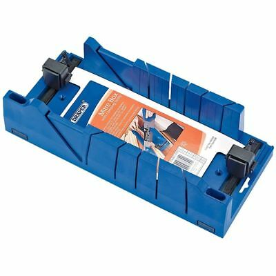 Draper Tools Expert Mitre Box with Clamping Facility Cutting Tools Blue 09789