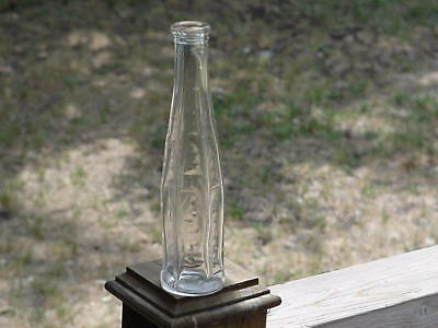 Nice Old Antique 6 Sided Cathedral Pepper Sauce Bottle 1890-1900