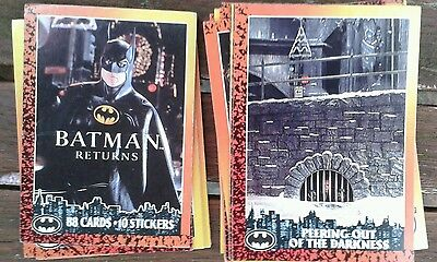 BATMAN RETURNS movie TRADE CARDS by Topps  1992 collection of 54 cards