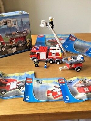 Lego City Fire Engine 60112 With Instructions 2965 Picclick Uk