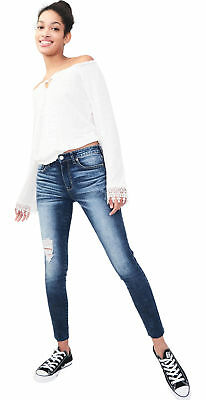 aeropostale womens seriously stretchy high-waisted ankle jegging