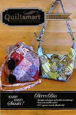 Bitty Bag Fun Pack Sewing Pattern by Quiltsmart Includes Interfacing for 2 Bags