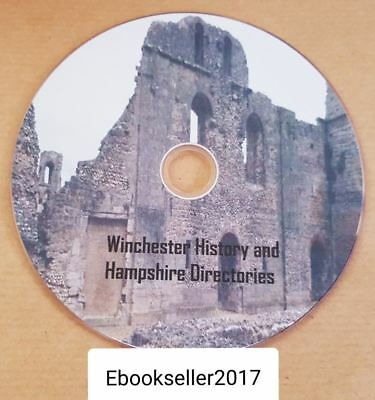 Winchester history genealogy and Hampshire directories 30 + pdf ebooks, on disc