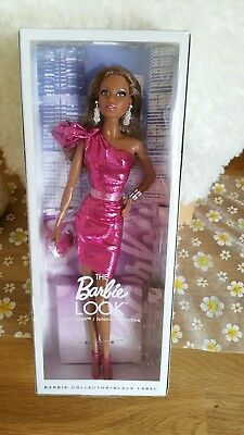 Mattel CJF52 Barbie Puppe The Look City Shine Collector Black Label NEU OVP