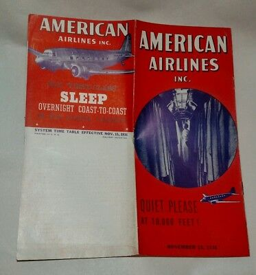 American AirlinesTimetable 1936