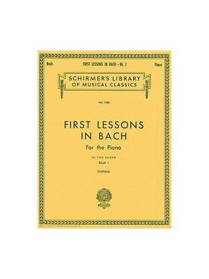 J.S. Bach First Lessons In Bach 1 Learn to Play Piano SHEET MUSIC BOOK