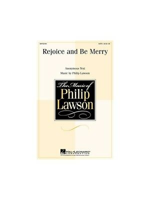 Lawson Rejoice Be Merry SATB Sing Choral Voice Vocal Score SHEET MUSIC BOOK