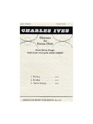 Charles Ives Walking Learn to Play Unison Voice Piano SHEET MUSIC BOOK