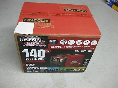 Lincoln 120V 140-Amp Weld Pak MIG Flux Cored Wire Feed Welder Welding Machine