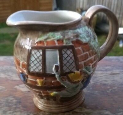 Radford Art Pottery - Hand Painted Jug - Village Scene rare