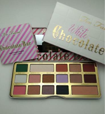 TOO FACED 16 color Cosmetics WHITE CHOCOLATE BAR Palette in BOX Eyeshadow  MW1