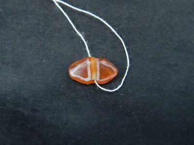 Ancient Etch Carnelian Bead Roman 200 BC  #BE5112