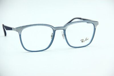 7a7a10ebcfa New Ray-Ban Rb 7117 8019 Silver  Blue Authentic Eyeglasses Frame Rb7117 Rx  52
