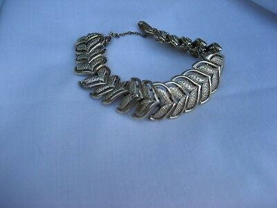 Vintage Coro Silvertone Bracelet With Safety Chain Circa 60's