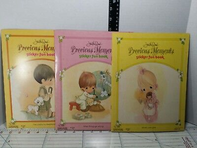 Vintage Precious Moments sticker fun books, unused condition, from 1980