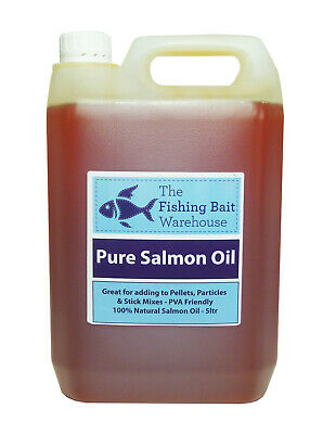 Pure Salmon Oil 5ltr, Fishing, Dog, Bait Attractant, Carp Fishing, 5 Litre
