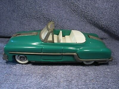 MINISTER DELUX TINPLATE FRICTION CAR 1960s VGC # REGD NO A-34951 81 GREEN