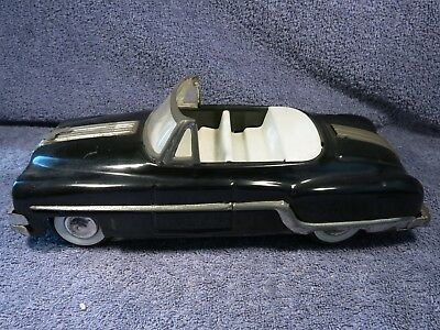 MINISTER DELUX TINPLATE FRICTION CAR 1960s VGC # REGD NO A-34951 81 DARK BLUE