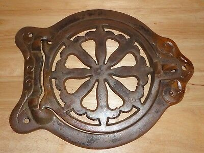 CAST IRON Antique Warming Shelf  -Wood Cook Stove -Marked S H 659
