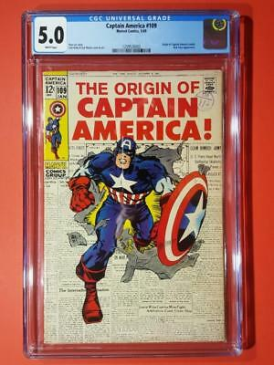 Captain America #109 CGC 5.0 Marvel Comics