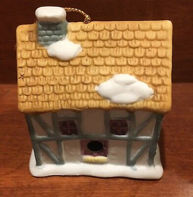 The Baker Christmas tree ornament house cottage bell readers digest 1991