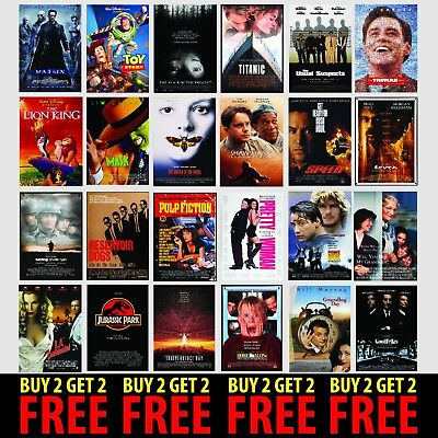 CLASSIC 90's MOVIE POSTERS A4/A3/A2 300gsm Photo Poster Film Wall Decor Fan Art