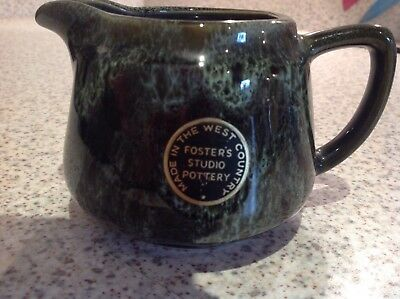 Foster's Studio Pottery Cream/Milk Jug in Green - Unused and Perfect!