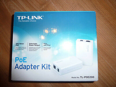 TP-Link TL-POE200 Adapter Kit (Power Over Ethernet) - NEU